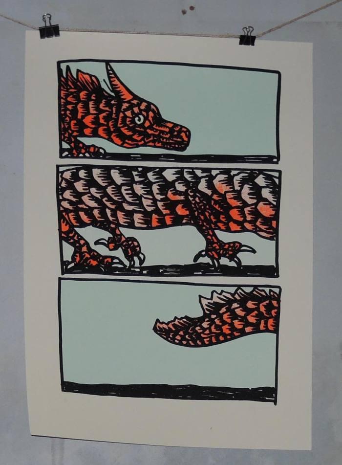 dragon sérigraphie